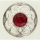 184 Culloden Plaid Brooch
