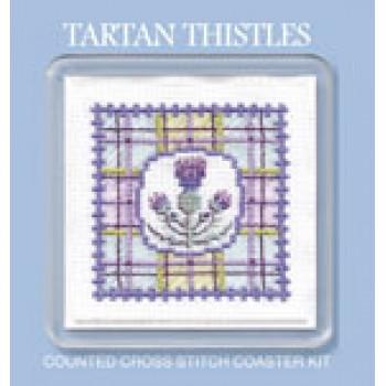 COTT Tartan Thistles Coaster