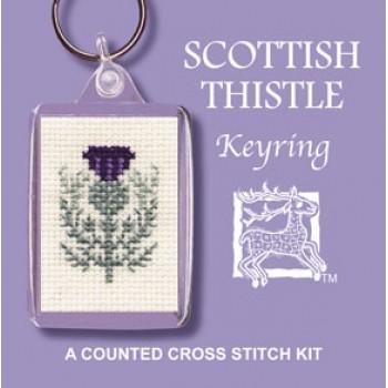 KRST Scottish Thistle Keyring