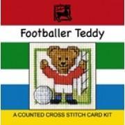 Footballer Teddy Miniature Card