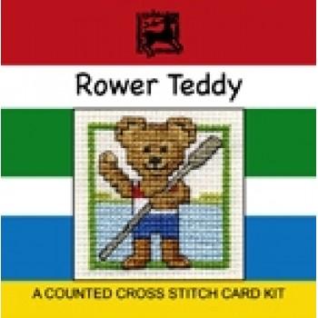 Rower Teddy Miniature Card