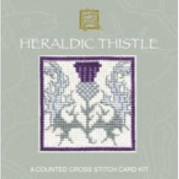SMHT Heraldic Thistle Miniature Card
