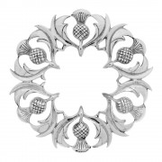 185 Scottish Thistle Plaid Brooch