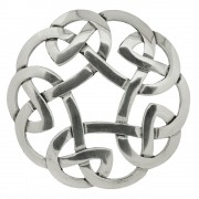 247 Celtic Interlace Plaid Brooch