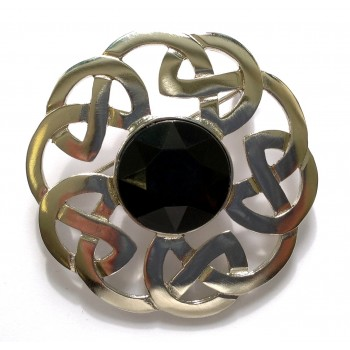 248 Celtic Interlace Plaid Brooch