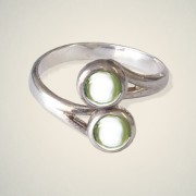 August (Peridot) Ring