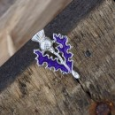 127 Thistle Enamel Brooch SALE