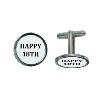 CL 18 - 'Happy 18th' Engraved Cufflinks