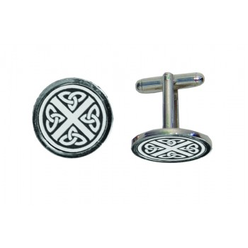 CL CS - Celtic Saltire Engraved Cufflinks