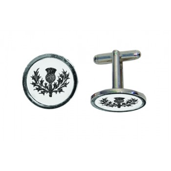 CL TH - Thistle Engraved Cufflinks