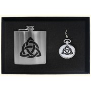 GIFT5 Hip Flask / Pocket Watch Gift Set