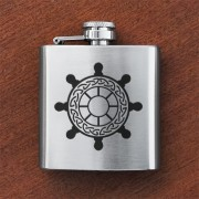 HF3 SW - Sporran Flask Ships Wheel