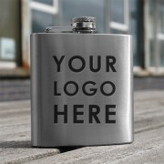 HF6 BE - 6oz Stainless Steel Hip Flask Bespoke Design