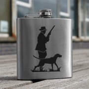 HF6 HU - 6oz Stainless Steel Hip Flask Hunter