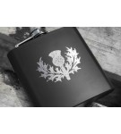 6oz Matt Black Hip Flask (HF6 B)