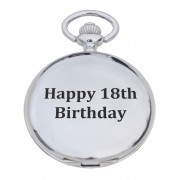 PW 18 - 'Happy 18th' Engraved Pocket Watch