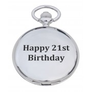 PW 21 - 'Happy 21st' Engraved Pocket Watch