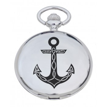 PW AN - Anchor Engraved Pocket Watch