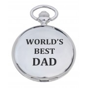 PW BD - 'Best Dad' Engraved Pocket Watch