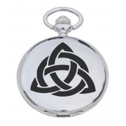 PW CI - Celtic Interlace Engraved Pocket Watch