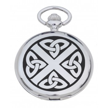 PW CS - Celtic Saltire Engraved Pocket Watch