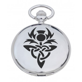 PW CT - Celtic Thistle Engraved Pocket Watch