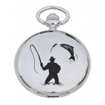 PW FM - Fisherman Engraved Pocket Watch