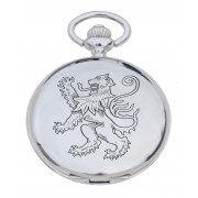 PW LR - Lion Rampant Engraved Pocket Watch