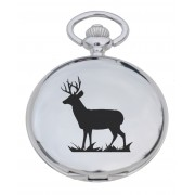 PW ST - Stag Engraved Pocket Watch