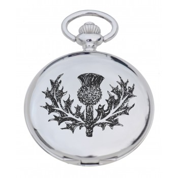 PW TH - Thistle Engraved Pocket Watch