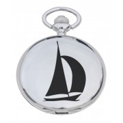 PW YA - Yacht Engraved Pocket Watch