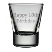 TOT 18 - Dram Glass 'Happy 18th'