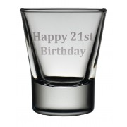 TOT 21 - Dram Glass 'Happy 21st'