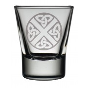 TOT CS - Dram Glass Celtic Saltire