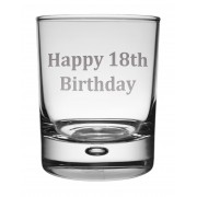 WG 18 - Whisky Tumbler 'Happy 18th'