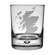 WG SM - Whisky Tumbler Scotland Map