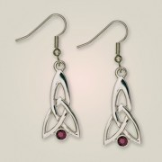 209E Celtic Fuchsia Earrings