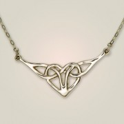 133 Celtic Heart Necklet