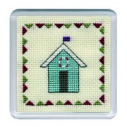COBHT Beach Huts Coaster - Turquoise