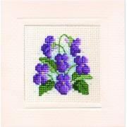 Violets Miniature Card - SALE