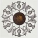 234 Scottish Thistle Plaid Brooch